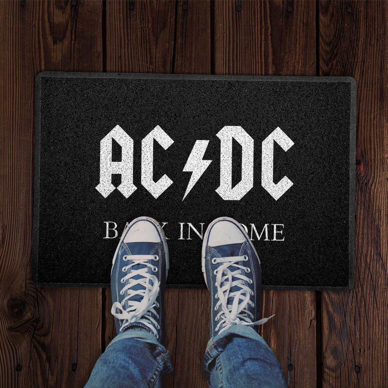 Capacho AC/DC De Volta em Casa PRESENTE E DECORAÇÃO GEEK