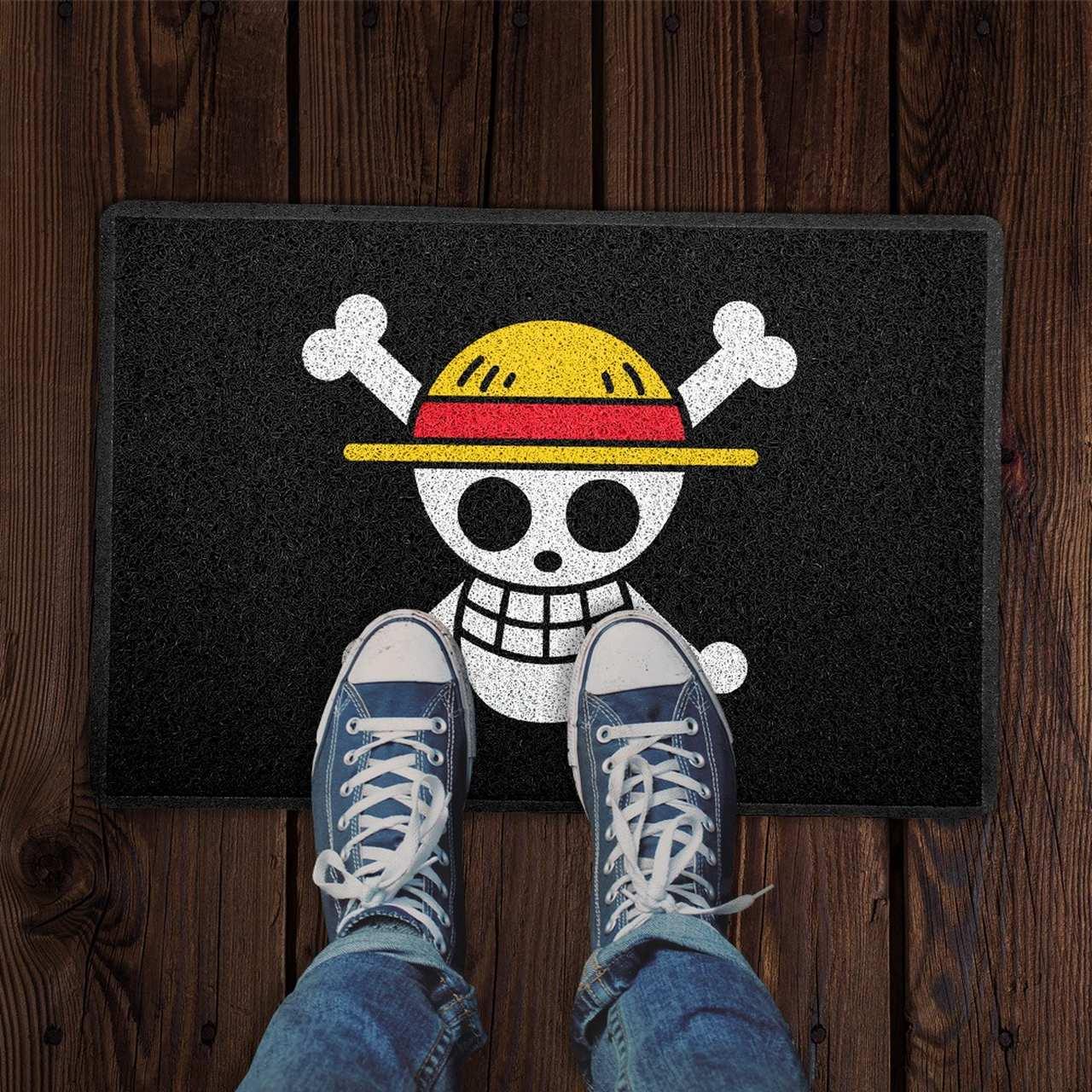 Capacho Bandeira dos Piratas do Chapéu de Palha: One Piece - EV
