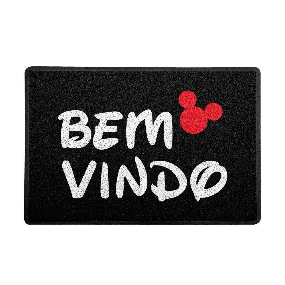 """Capacho """"Bem Vindo"""" (Preto) : Disney"""