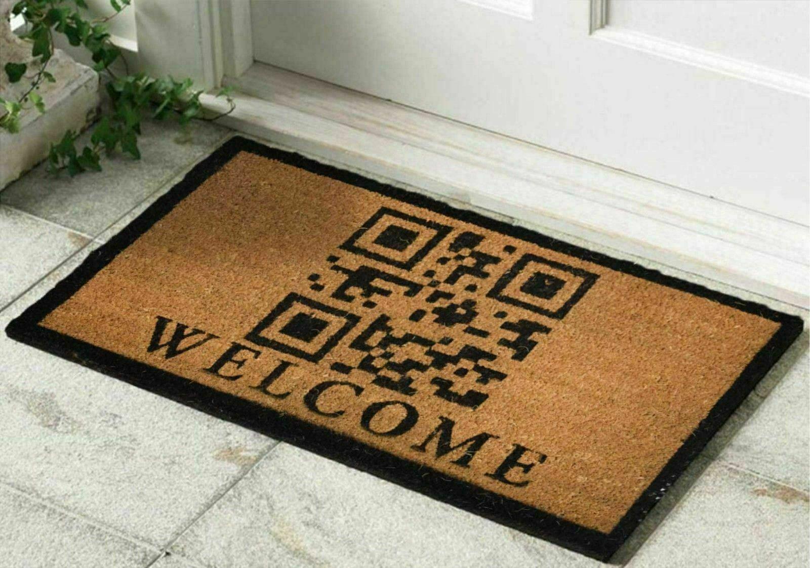 Capacho Bem Vindo Welcome QR Code - EV