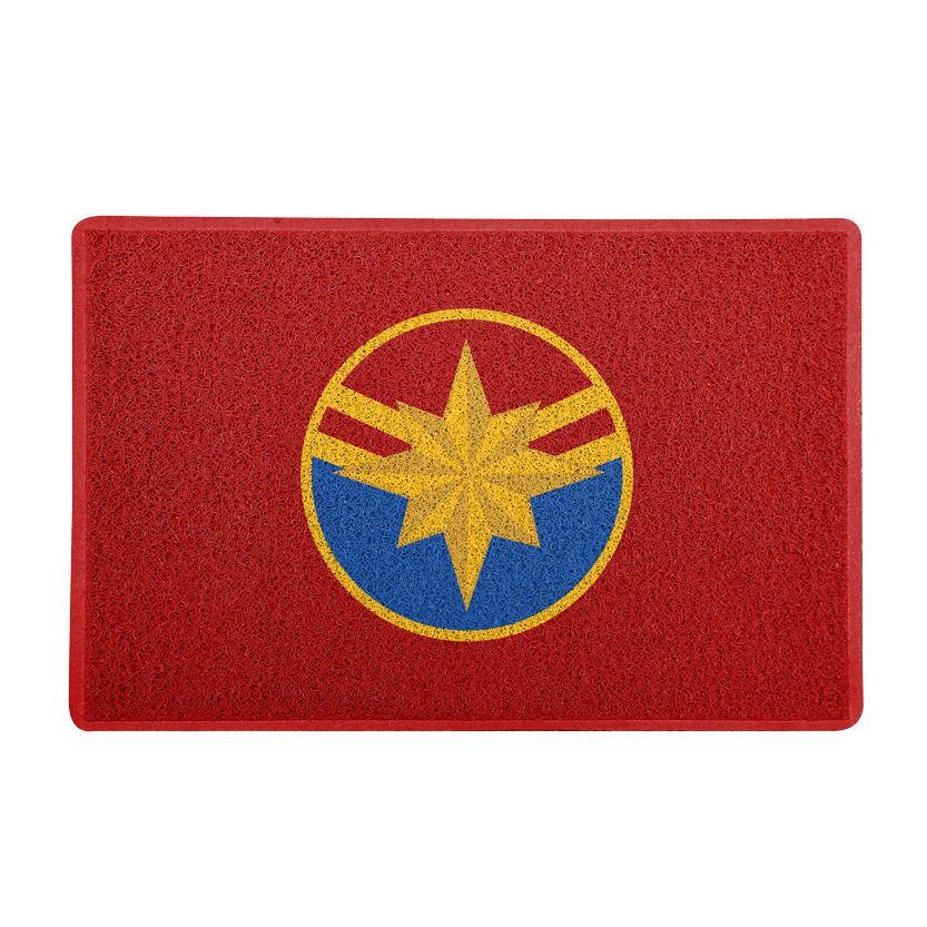 Capacho Capitã Marvel (Capitain Marvel) - Vermelho
