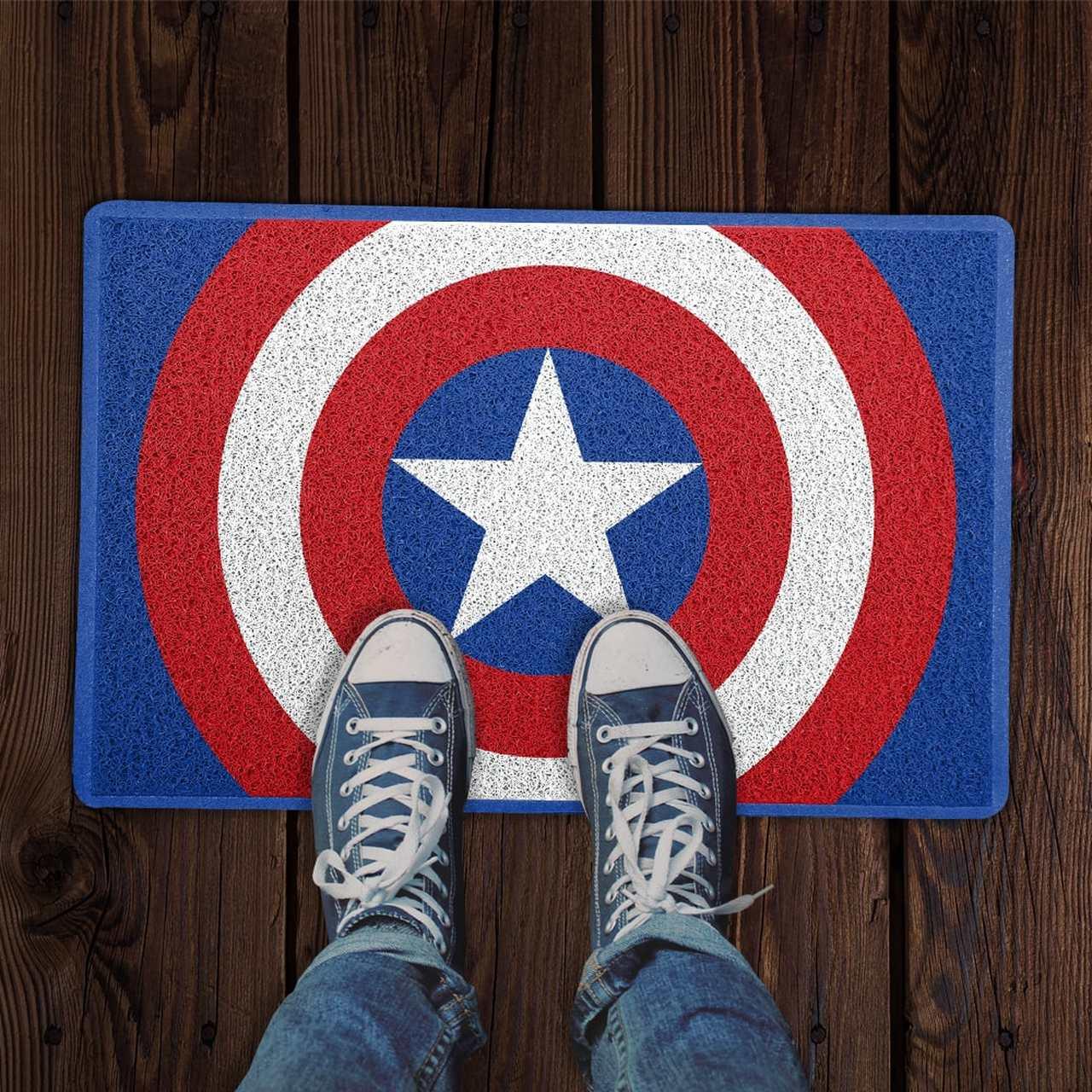 Capacho Capitão América (Capitain America): Vingadores (Avengers) PRESENTE E DECORAÇÃO GEEK