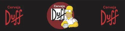 Tapete Cozinha Cerveja Duff (Grande): Simpsons