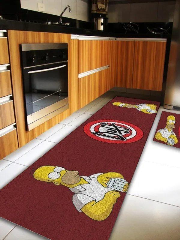 Tapete Cozinha Duff (Grande): Simpsons