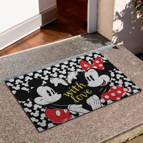 "Capacho Mickey e Minnie ""With Love"""