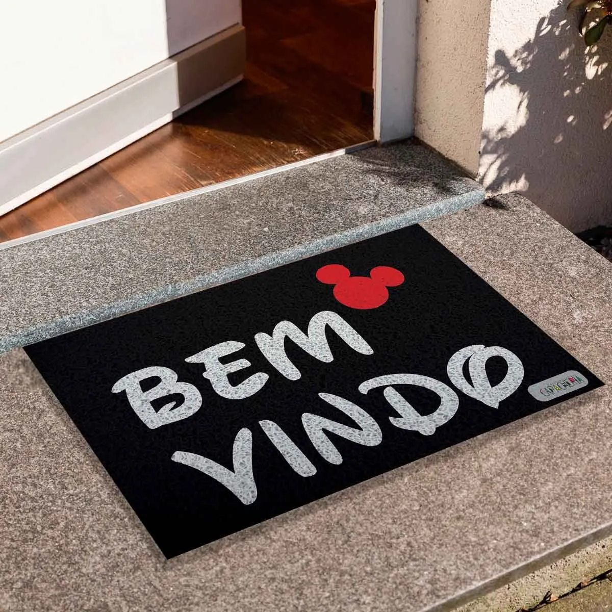 "Capacho Mickey Mouse ""Bem Vindo"""