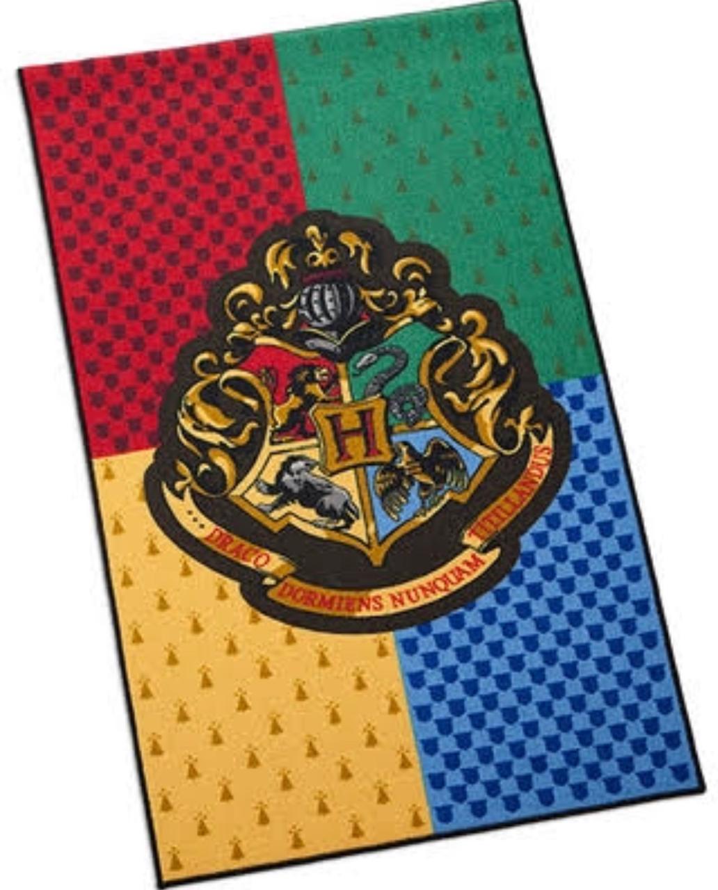 Capacho Escola de Magia e Bruxaria de Hogwarts: Harry Potter PRESENTE E DECORAÇÃO GEEK