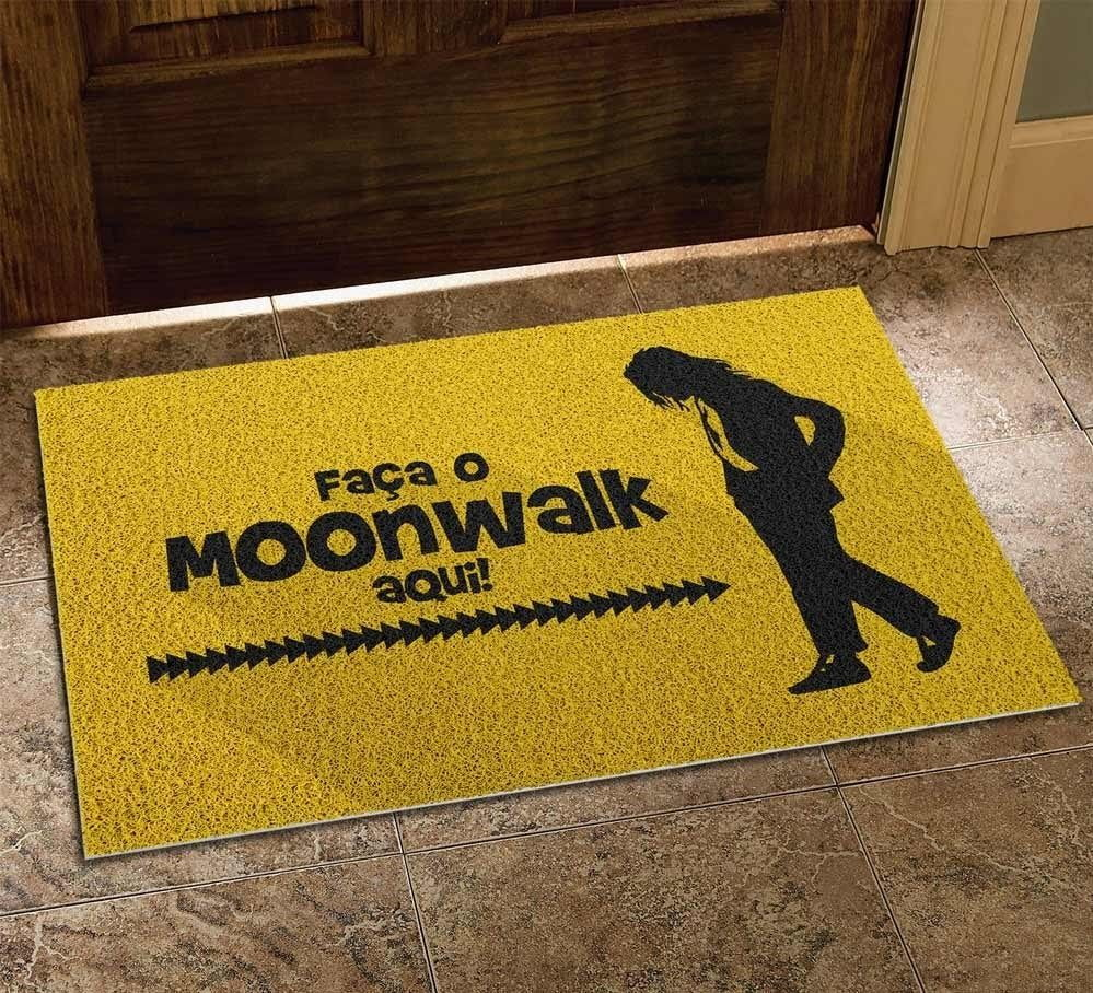 Capacho Faça O Moonwalk Aqui Michael Jackson - EV