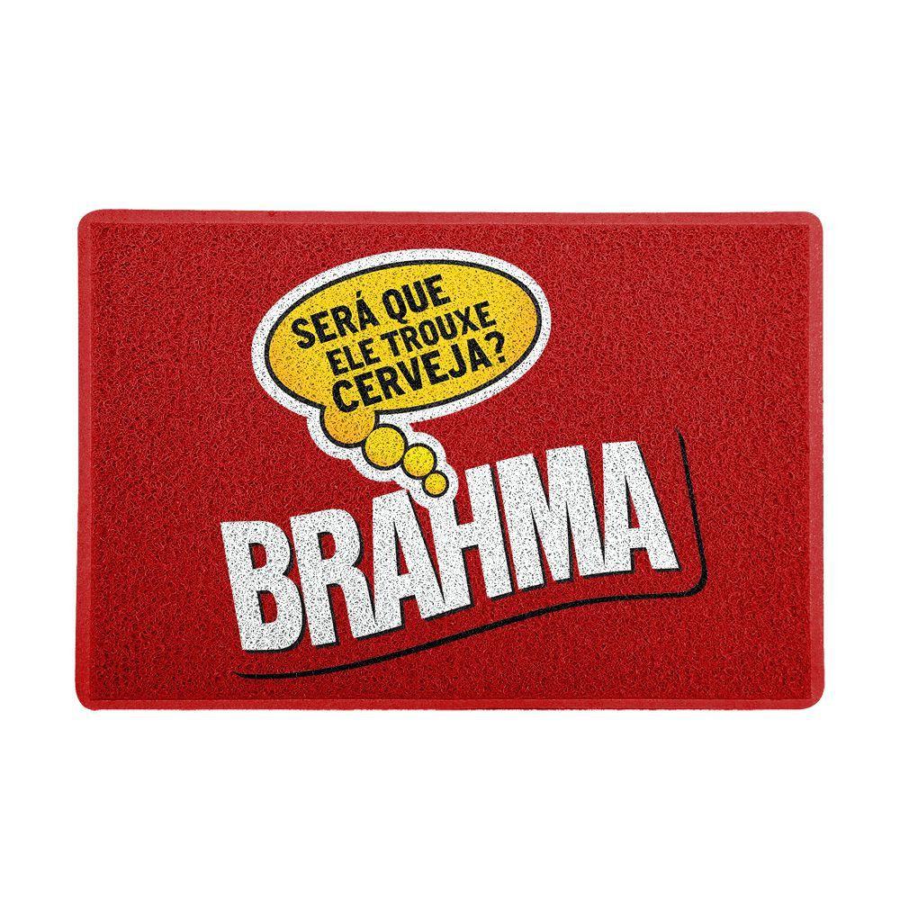 """Capacho Logo Cerveja Brahma """"Será Que Ele Trouxe Cerveja"""""""