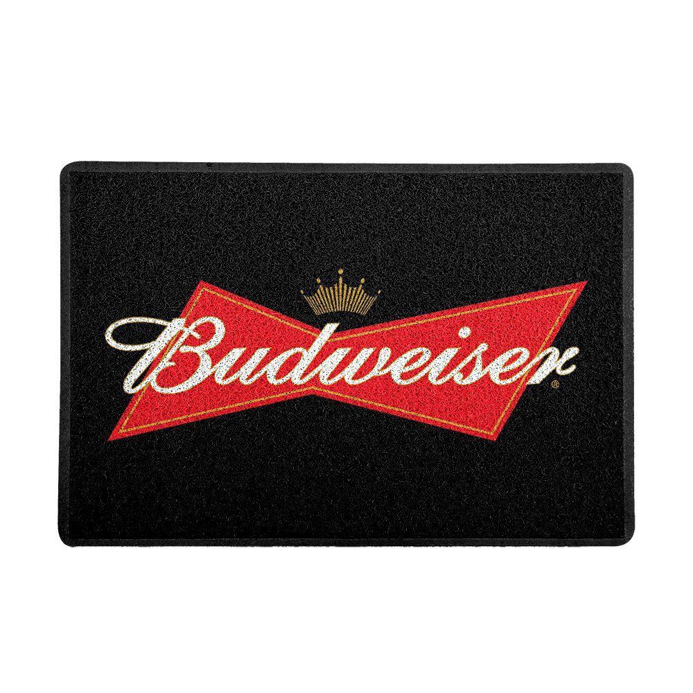 Capacho Logo Cerveja Budweiser (Preto)