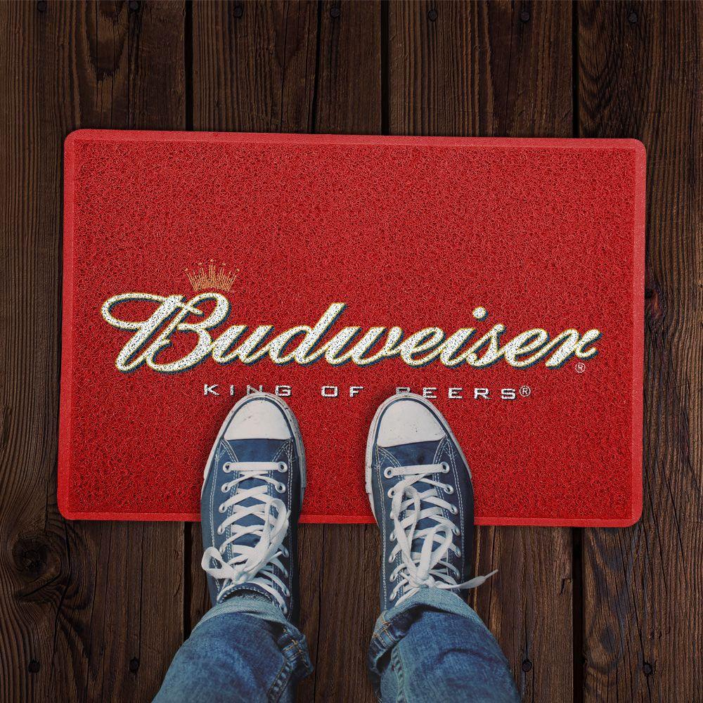 Capacho Logo Cerveja Budweiser (Vermelho)