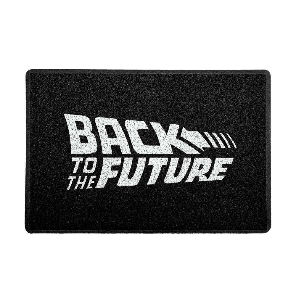 Capacho Logo De Volta Para o Futuro (Preto e Branco) (Back To The Future)