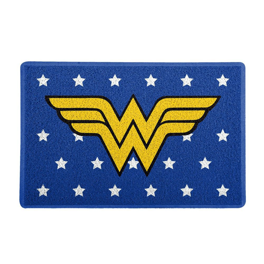 Capacho Logo Mulher-Maravilha (Wonder Woman): DC Comics (Azul)