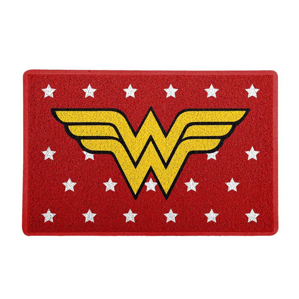 Capacho Logo Mulher-Maravilha (Wonder Woman): DC Comics (Vermelho)  - EV