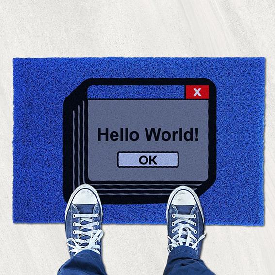 Capacho Olá Mundo Hello World - EV