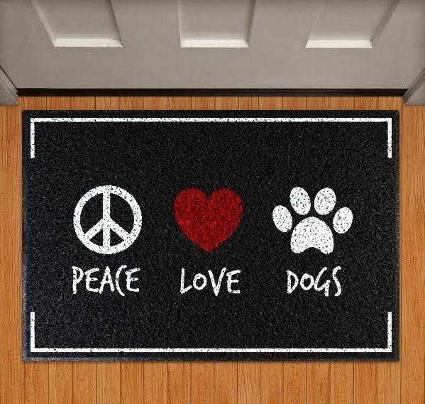 Capacho Peace Love Dogs