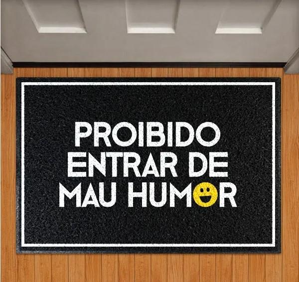 Capacho Proibido Entrar De Mau Humor - EV