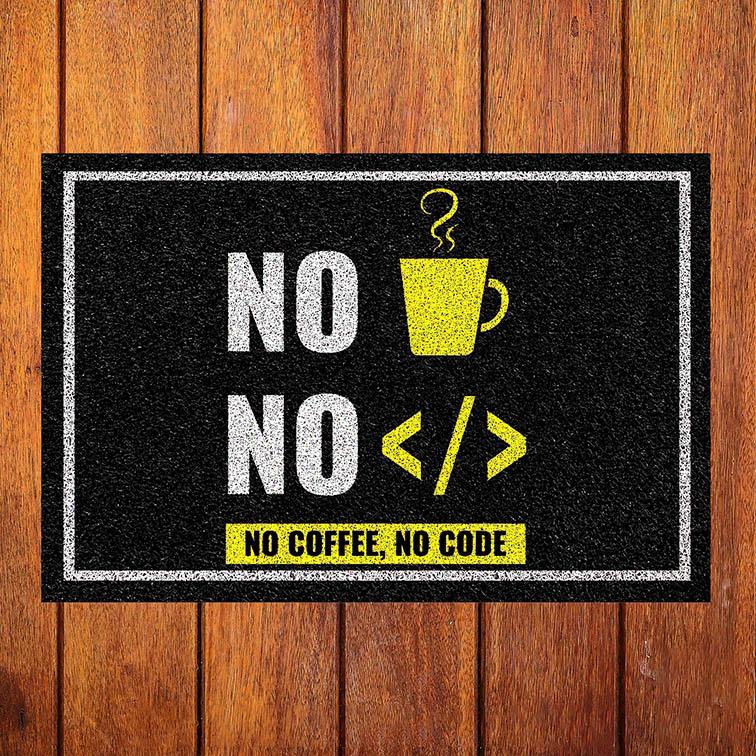 Capacho Sem Código Sem Café No Code No Coffee Programação Programador - EV