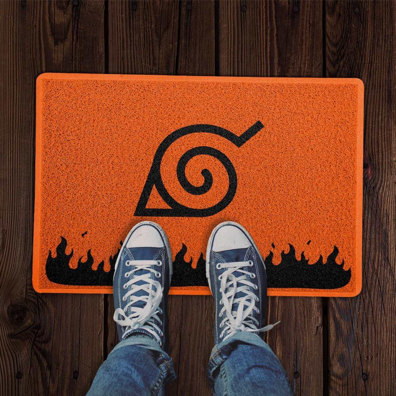 Capacho: Símbolo Vila da Folha ( Naruto ) PRESENTE E DECORAÇÃO GEEK