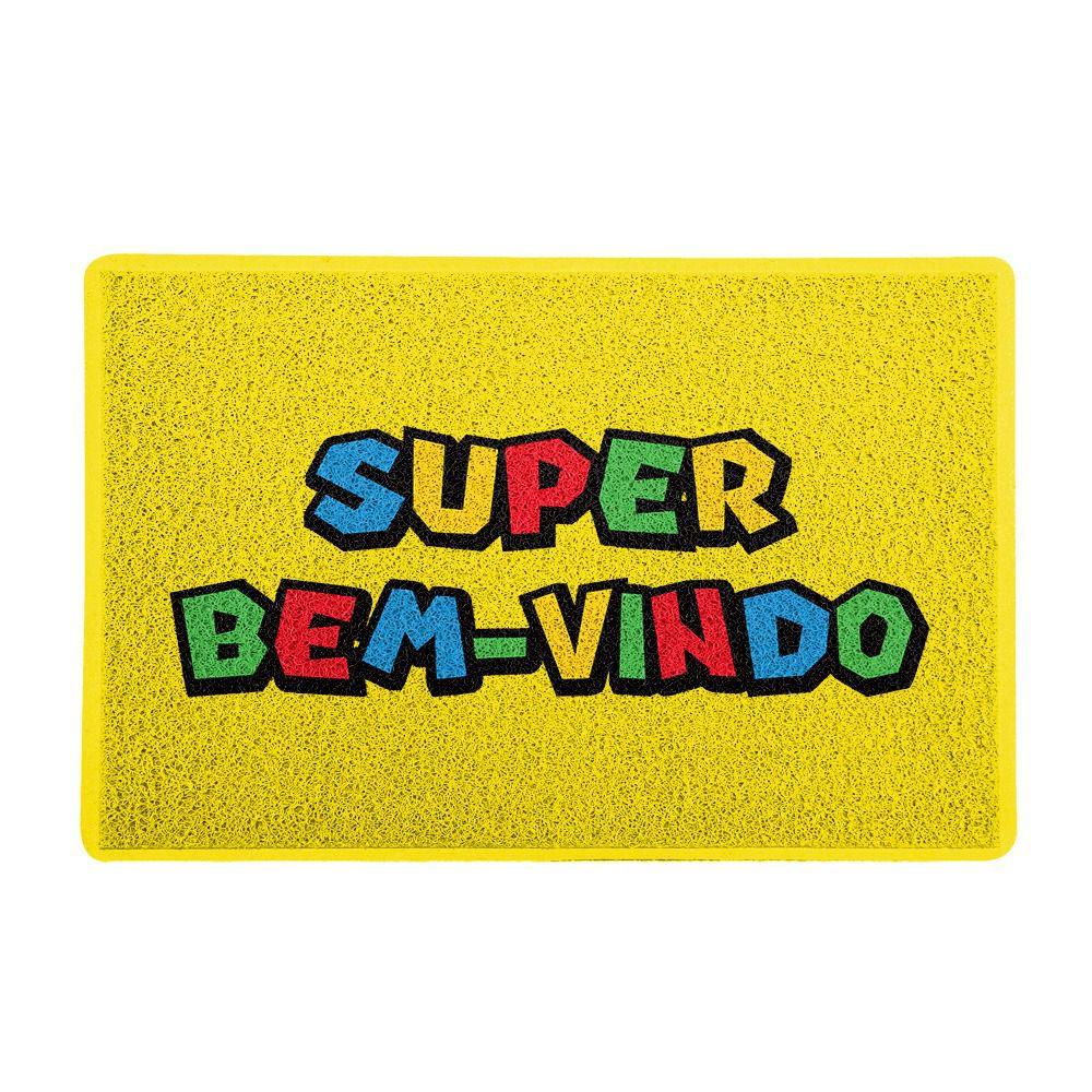 """Capacho """"Super Bem-Vindo"""": Super Mario Bros."""
