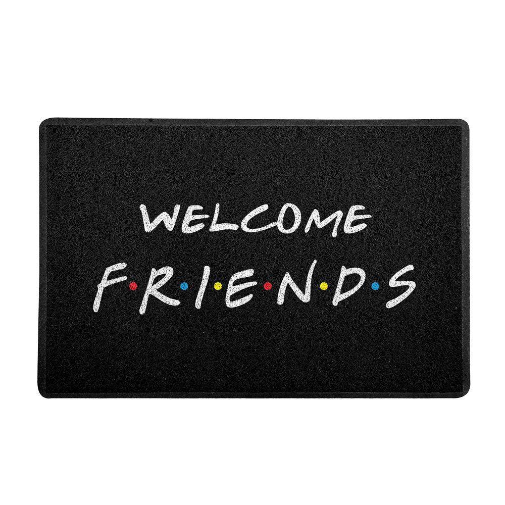 "Capacho ""Welcome Friends"" (Preto)"