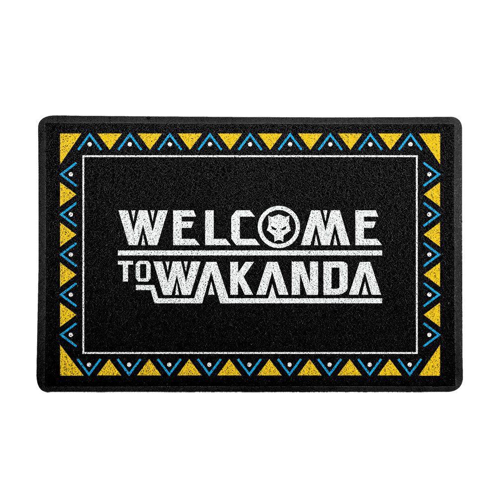 """Capacho """"Welcome To Wakanda"""": Pantera Negra (Preto)  - EV"""
