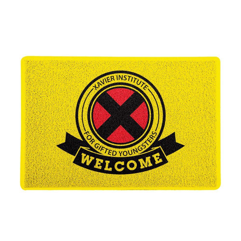 Capacho X-Men: Instituto Xavier - Marvel Comics (Amarelo) PRESENTE E DECORAÇÃO GEEK