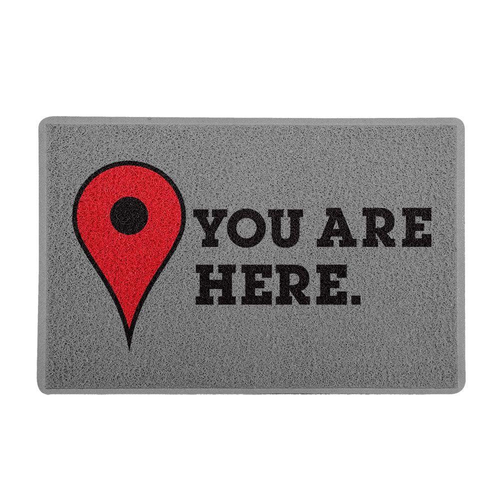 """Capacho """"You Are Here"""" PRESENTE E DECORAÇÃO GEEK"""