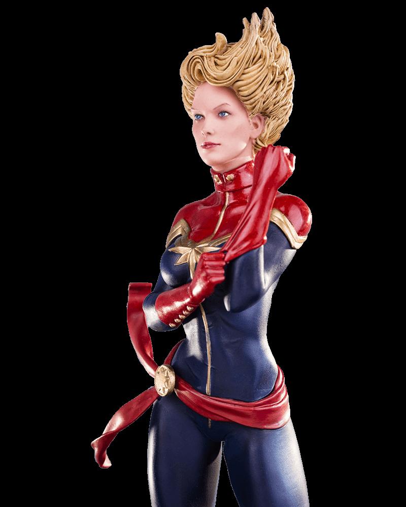 Estátua Capitã Marvel (Captain Marvel): Marvel Comics Serie 2 Art Scale Escala 1/10 - Iron Studios - CD