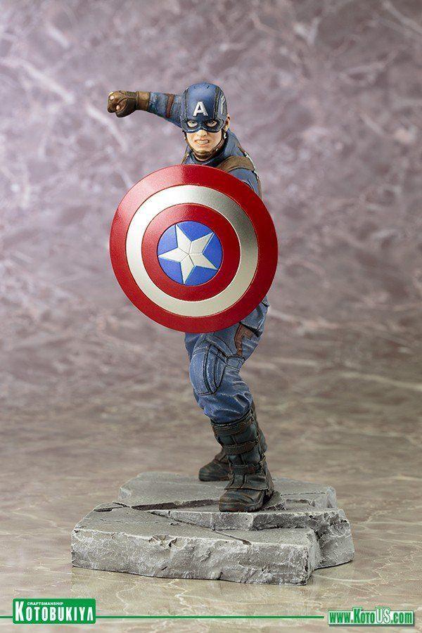 Estátua Capitão América: Guerra Civil Artfx+ Statue - Kotobukiya - CD