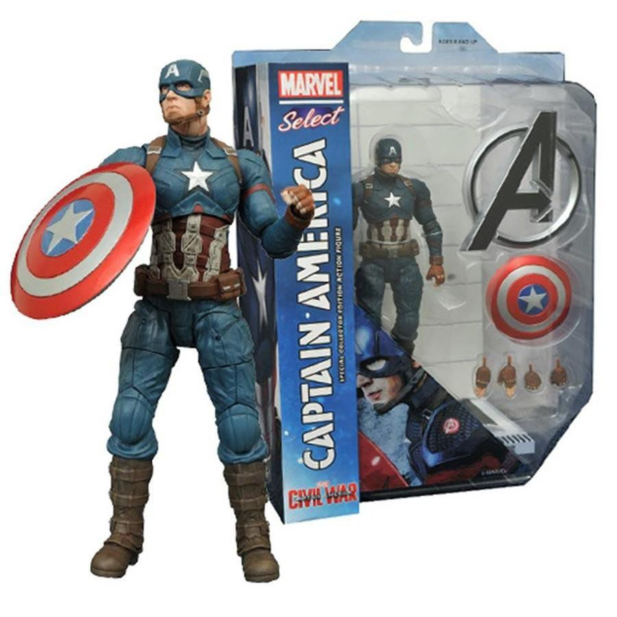 Boneco Capitão América Guerra Civil: Marvel Select - Diamond Select