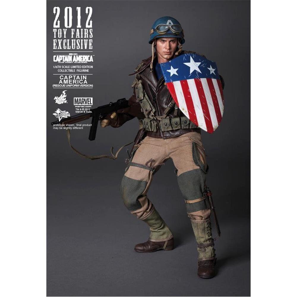 Boneco Capitão América (Captain America): Capitão América O Primeiro Vingador (The First Avenger) MMS180 - Hot Toys - CG