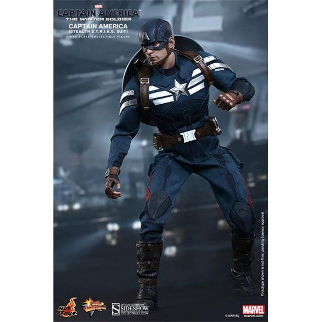 Boneco Capitão América (Stealth STRIKE Suit): Capitão América 2: O Soldado Invernal (The Winter Soldier) Escala 1/6 - Hot Toys