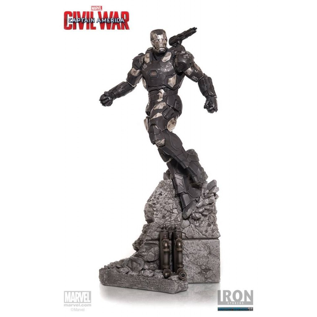 Estátua Máquina de Combate (War Machine): Guerra Civil (Legacy Replica) (Escala 1/4) - Iron Studios
