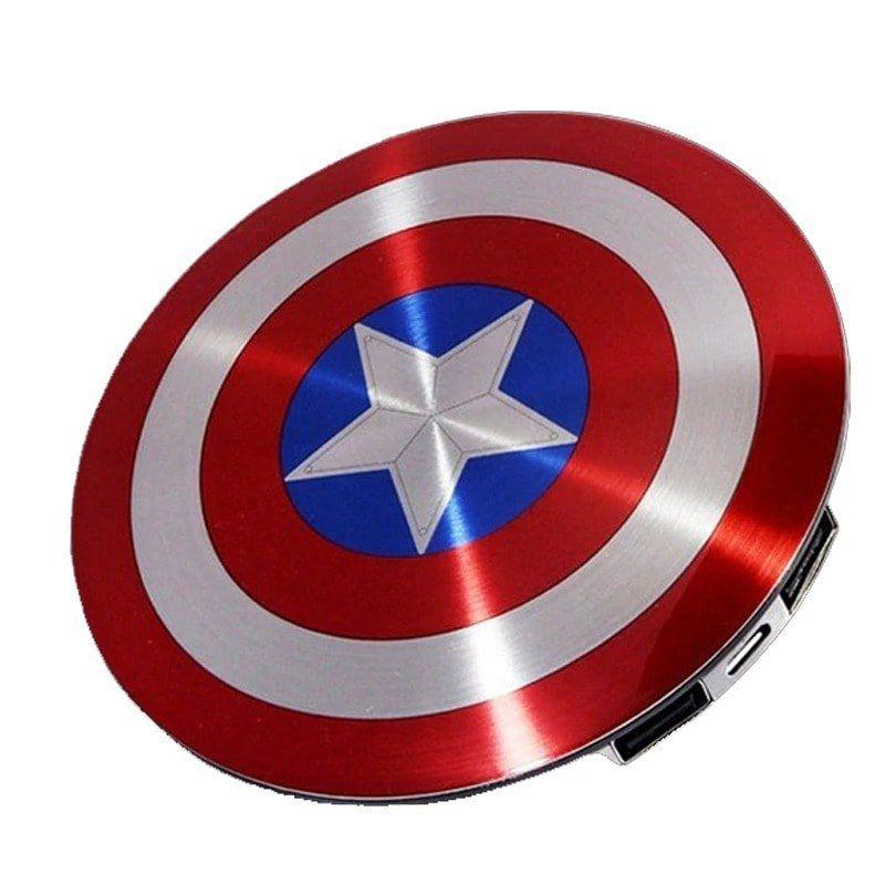 Carregador (Power Bank) Escudo Capitão América: Marvel Comics (USB)
