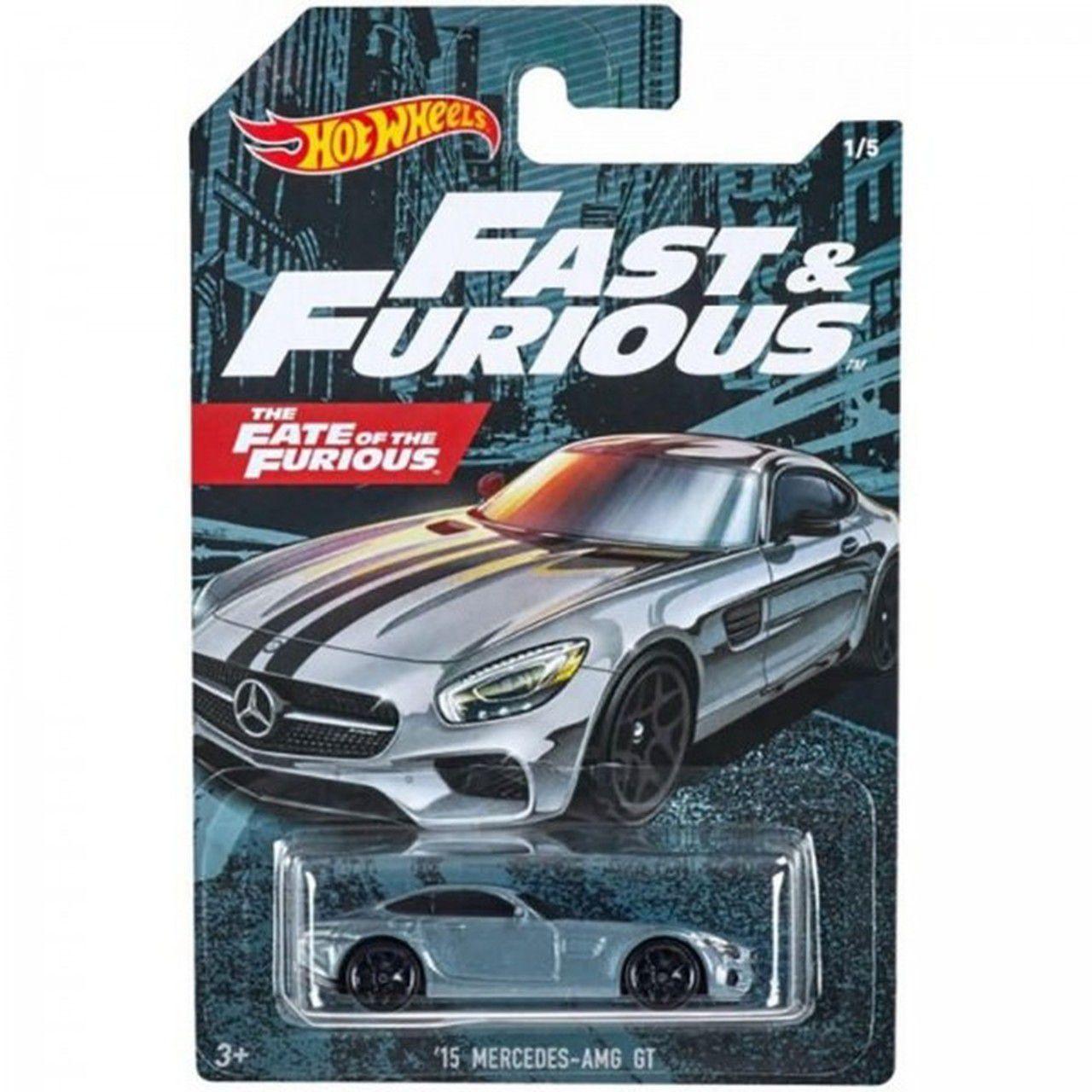 Carrinho '15 Mercedes-AMG GT: Velozes e Furiosos 8 (Fast & Furious) - Hot Wheels