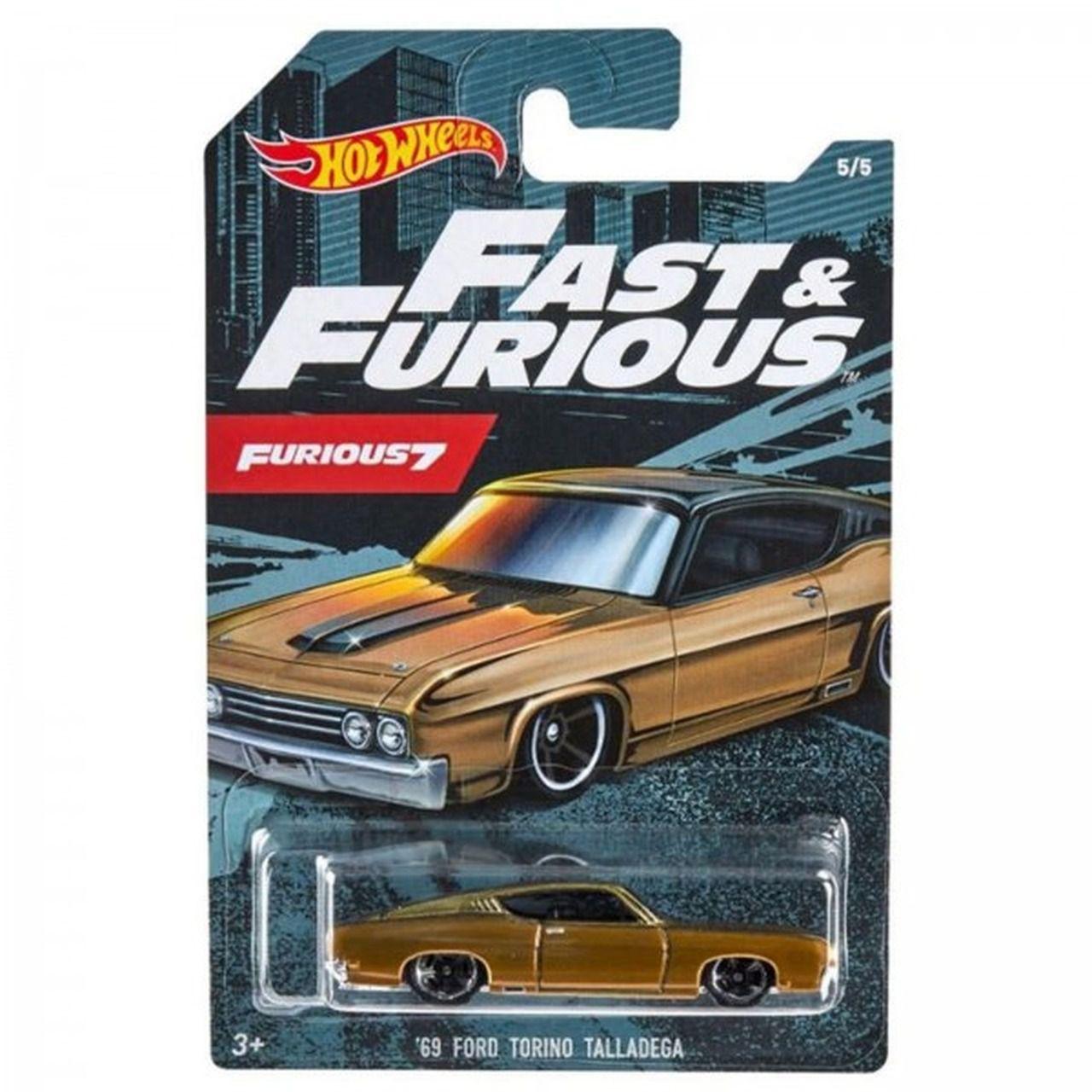 Carrinho '69 Ford Torino Talladega: Velozes e Furiosos 7 (Fast & Furious) - Hot Wheels