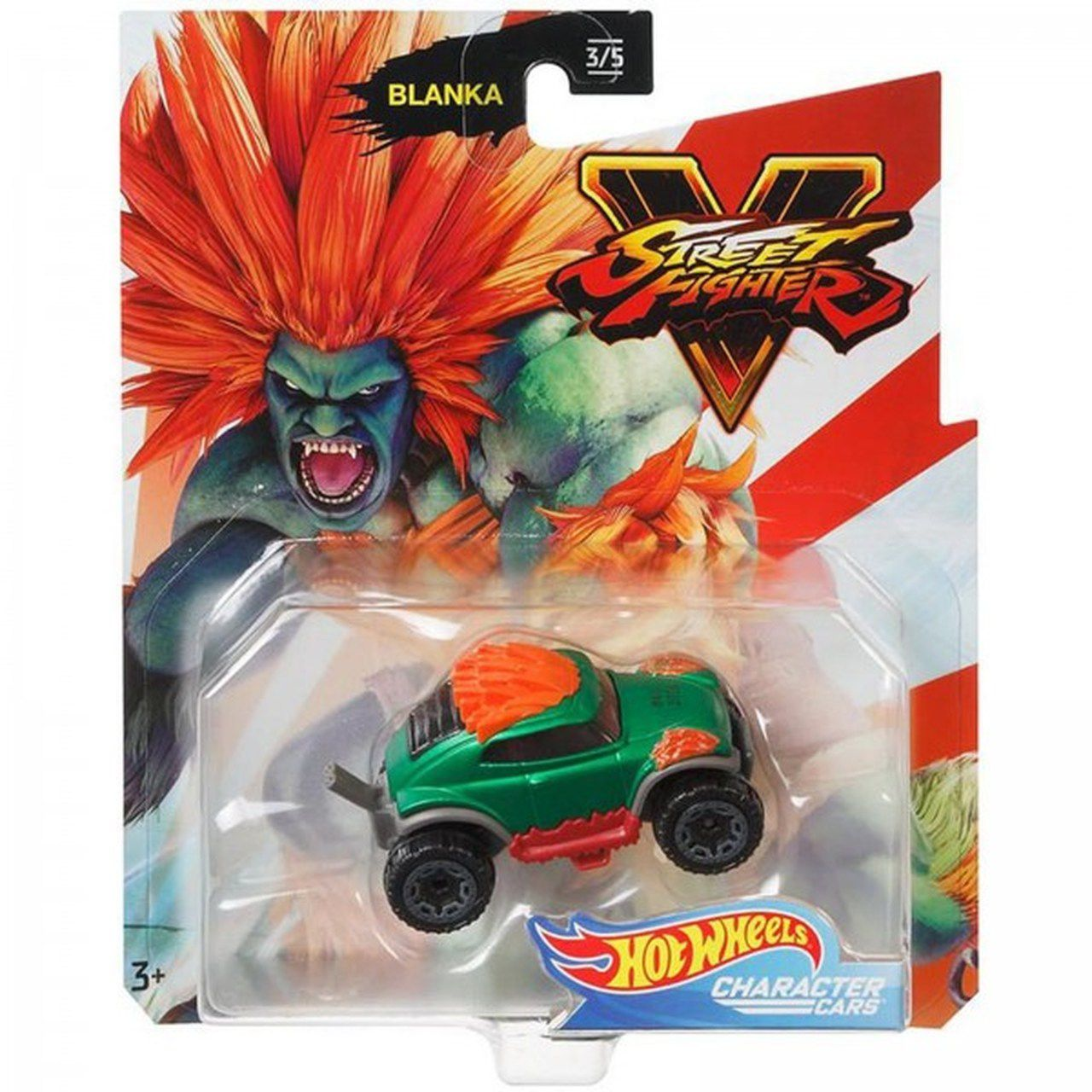 Carrinho Blanka: Street Fighter V - Hot Wheels