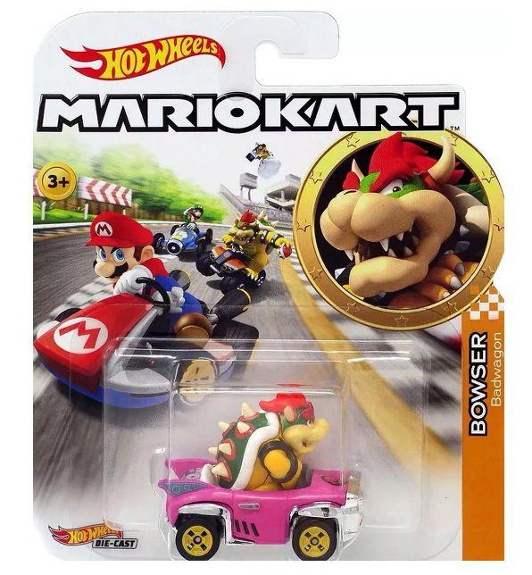Carrinho Bowser (Badwagon): Mario Kart - Hot Wheels