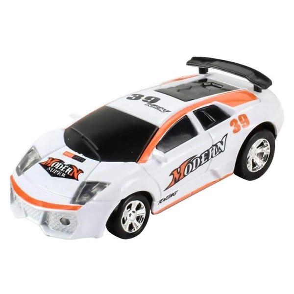 Carrinho de Controle Remoto: Lata Racing (Branco e Laranja) - DTC