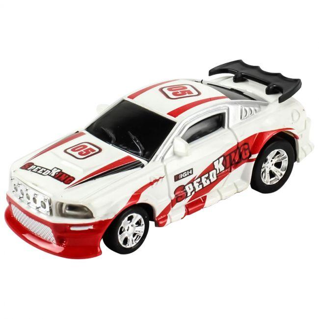 Carrinho de Controle Remoto: Lata Racing (Branco e Vermelho) - DTC