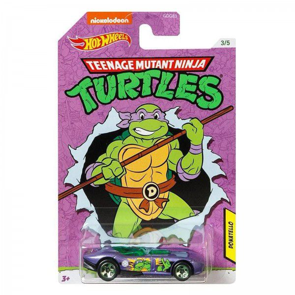 Carrinho Donatello (RRRoadster): Tartarugas Ninja (Teenage Mutant Ninja Turtles) - Hot Wheels