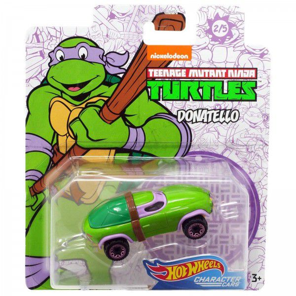 Carrinho Donatello: Tartarugas Ninja (Teenage Mutant Ninja Turtles) GJJ04 - Hot Wheels