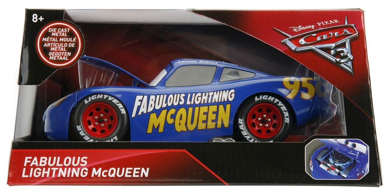 Carrinho Fabuloso Relâmpago McQueen: Disney Carros 3 Escala 1/24 - DTC