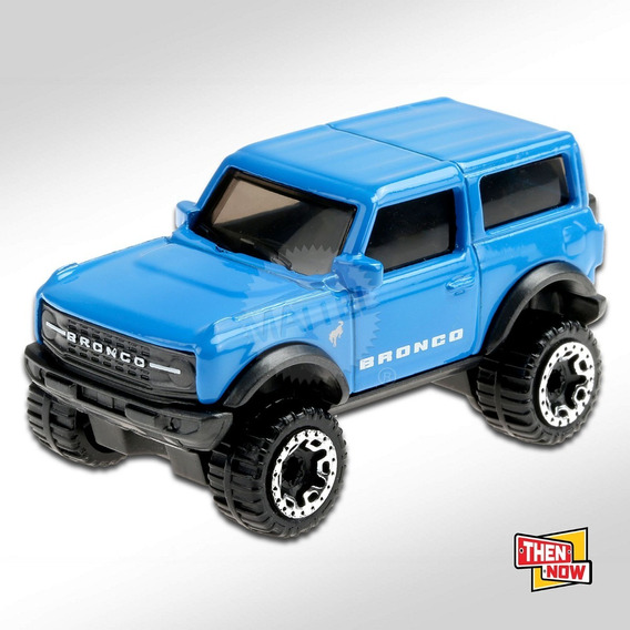 Carrinho Hot Wheels: '21 Ford Bronco (Azul) Then And Now (Then Now) - Mattel