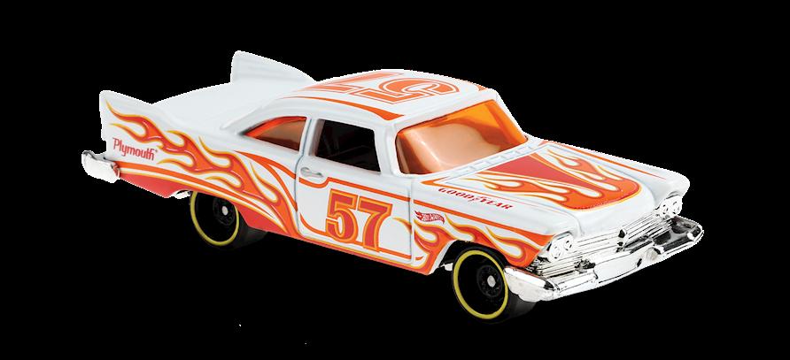 Carrinho Hot Wheels '57 Plymouth Fury (3MNXE) HW Flames