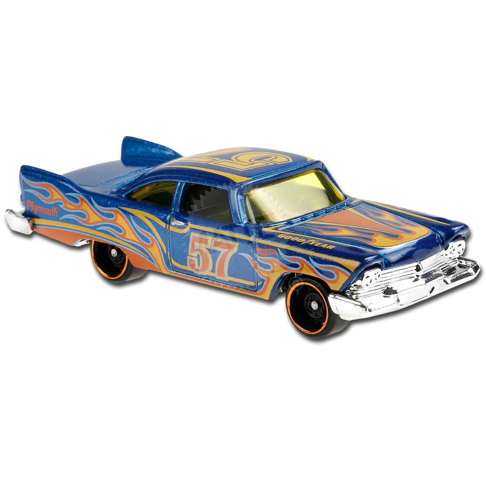 Carrinho Hot Wheels '57 Plymouth Fury Azul (S5CEM) HW Flames - Mattel