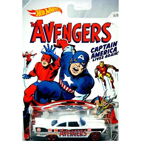 Carrinho Hot Wheels: '57 Plymouth Fury: Os Vingadores (The Avengers) Branco