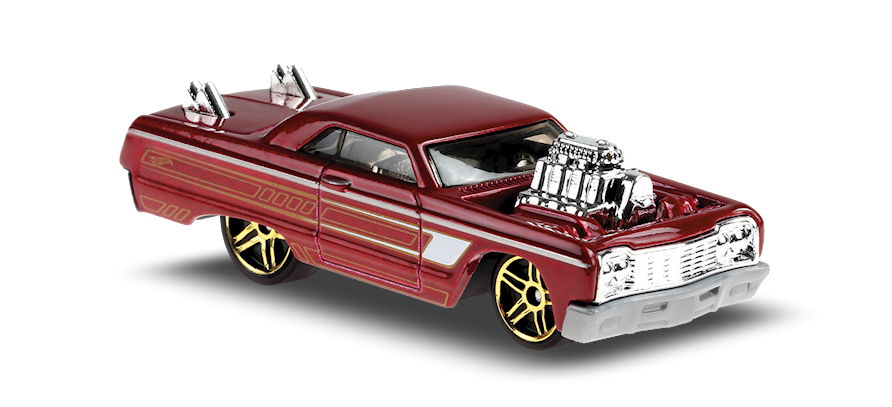 Carrinho Hot Wheels: 64 Chevy Impala - ( Tooned ) - W99LX