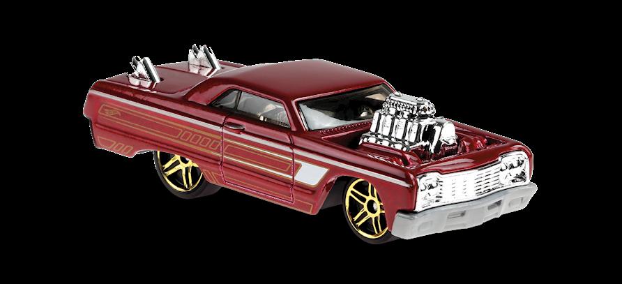 Carrinho Hot Wheels: 64 Chevy Impala - ( Tooned ) - W99LX